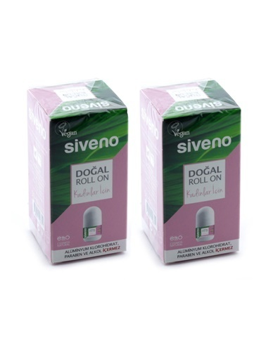 Siveno Roll-on Doğal Kadın 50ml x 2 adet,RNKSZ Renksiz